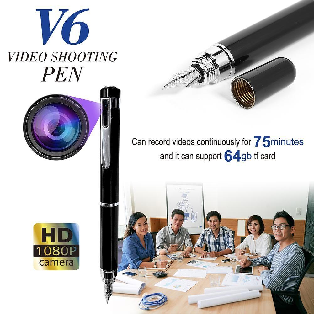 V6 Mini HD 1080P Pen Camera Camcorder DV DVR Video Business Cam Recorder