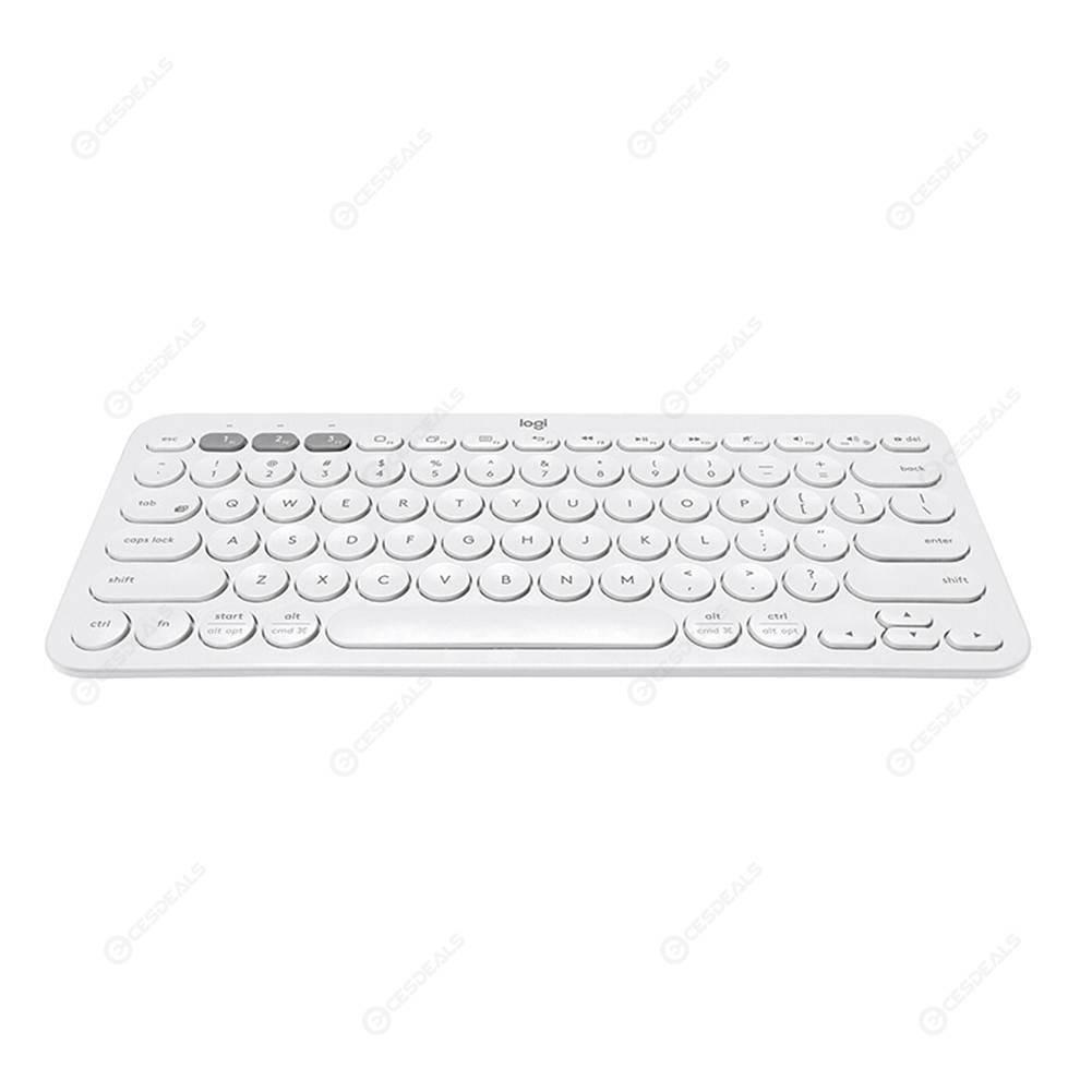 Logitech K380 Wireless Bluetooth Keyboards Multi-Device Keyboard (White)