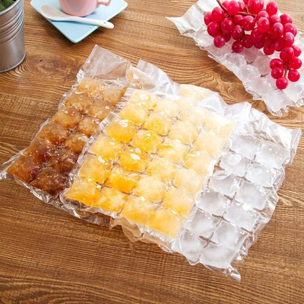 10pcs Disposable Ice Tray Mold Cocktail Ice-Making Bag Juice Drink Tools