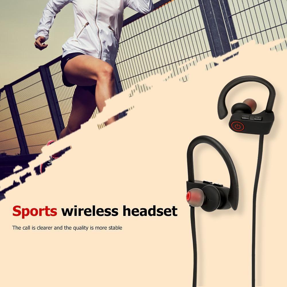JLA8 Bluetooth 4.2 Sports Wireless Earphone Headset with Mic Stereo Earbuds