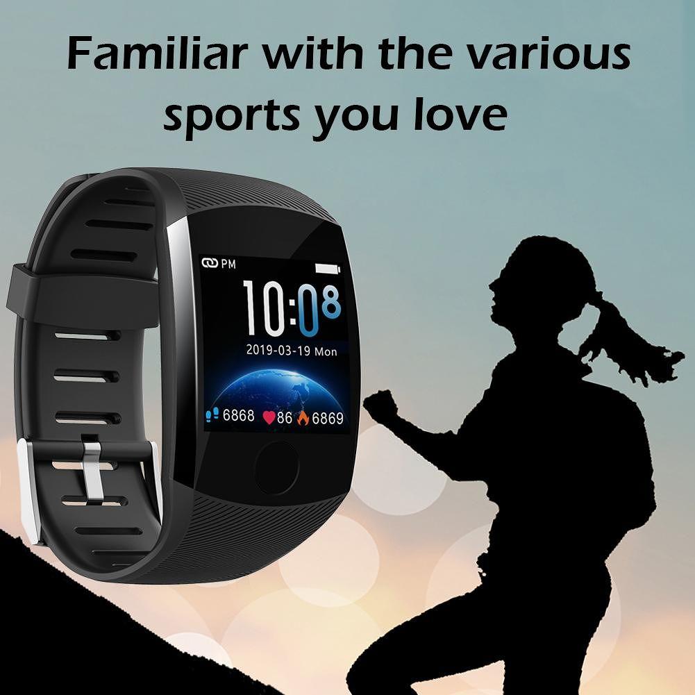 Q11 Smart Bracelet Color Screen Blood Pressure Monitoring Wristband (Black)