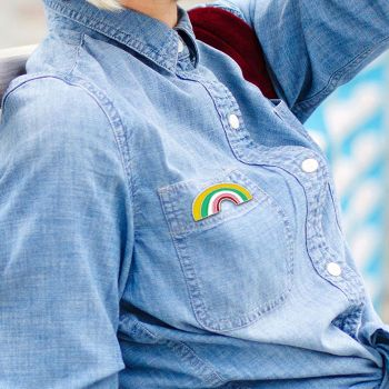 a2935cb60f0e Cartoon Rainbow Badges Jacket Backpack Women Brooch Jewelry Gift (C1095-2)