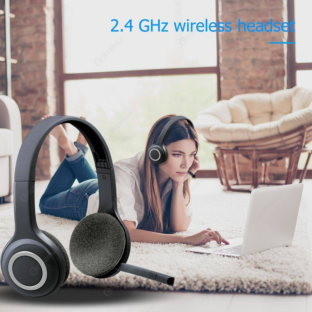 Logitech H600 2 4GHz Wireless Headset Headphones with Mic for PC White
