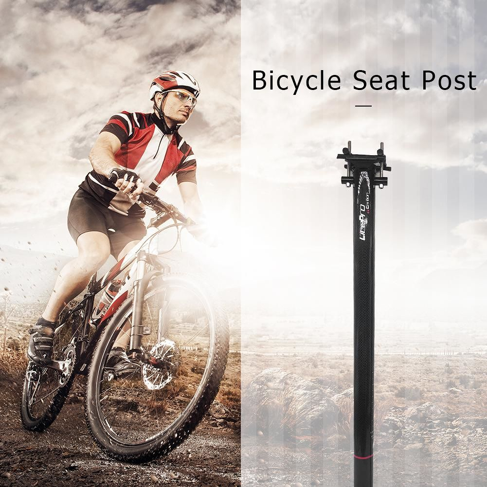 Carbon Fiber Bicycle Seatpost 33.9mmx580mm Cycling Road Bike Seat Tube Post
