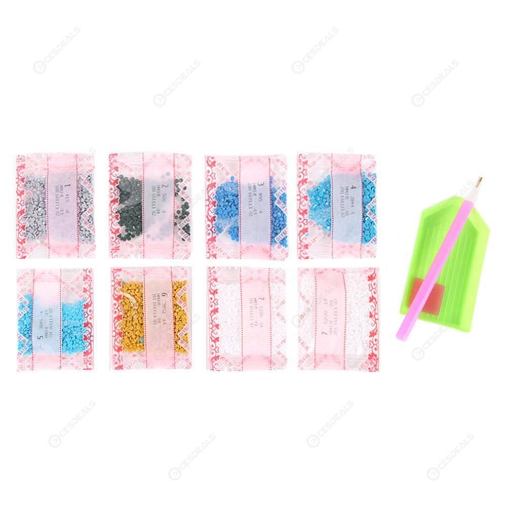 5D DIY Full Drill Diamond Painting Cross Stitch Embroidery Kit (Dolphin01)