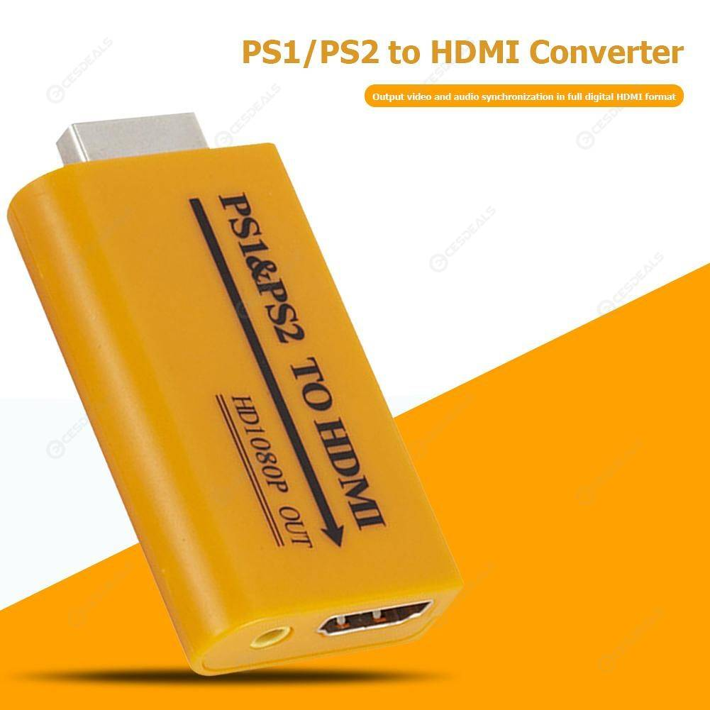 PS1/PS2 USB to HDMI Converter Projector HD 1080P Audio Video Output Adapter