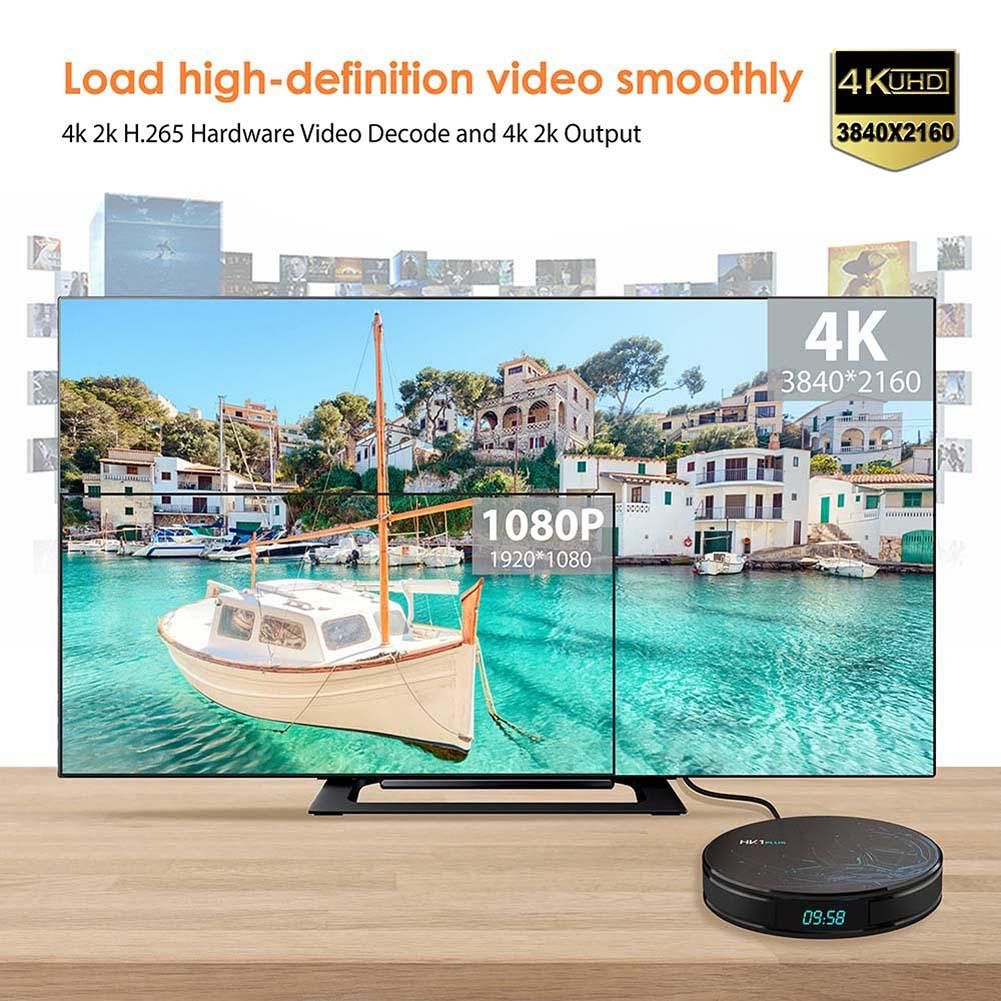4GB 64GB 4K HK1 PLUS Box Android 8.1 Amlogic S905X2 Smart TV BOX (EU Plug)