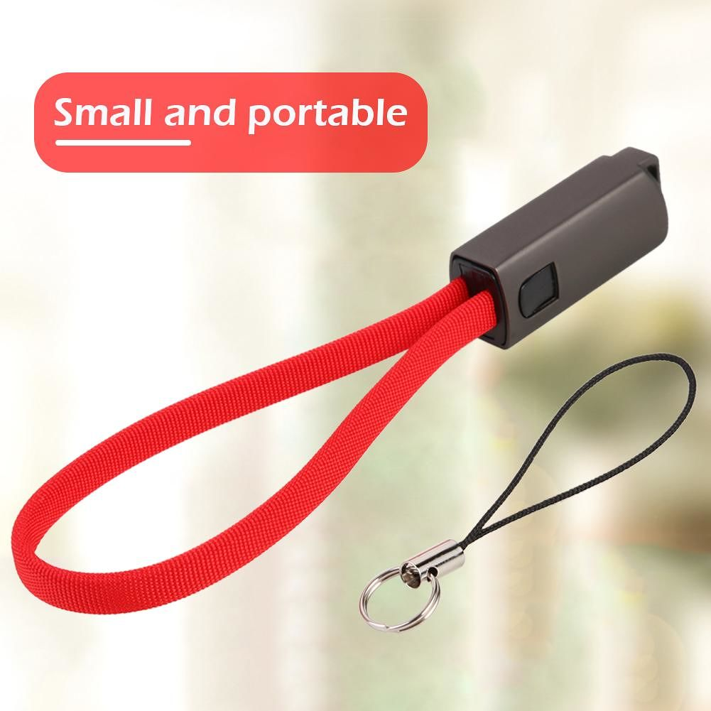 Micro USB Quick Charging Cable Key Buckle Charge Sync Data Cord (Red)
