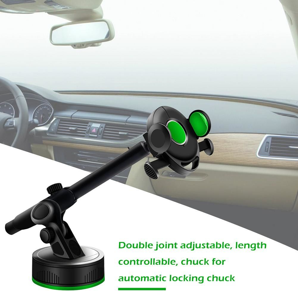 Universal Car Phone Holder Automatic Lock Stand for 4-6.5 in Phone Support