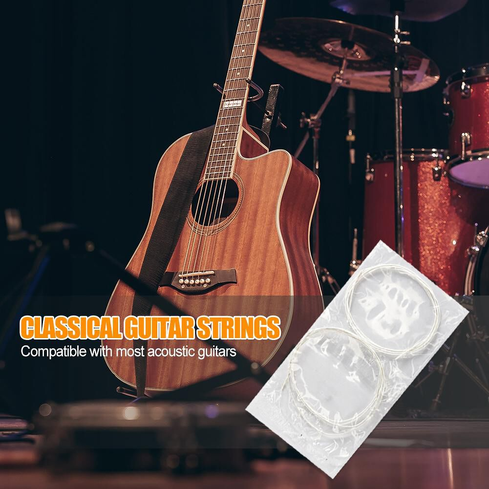 6pcs/set Glarry Classical Silver Guitar Strings for Acoustic Guitar Tools