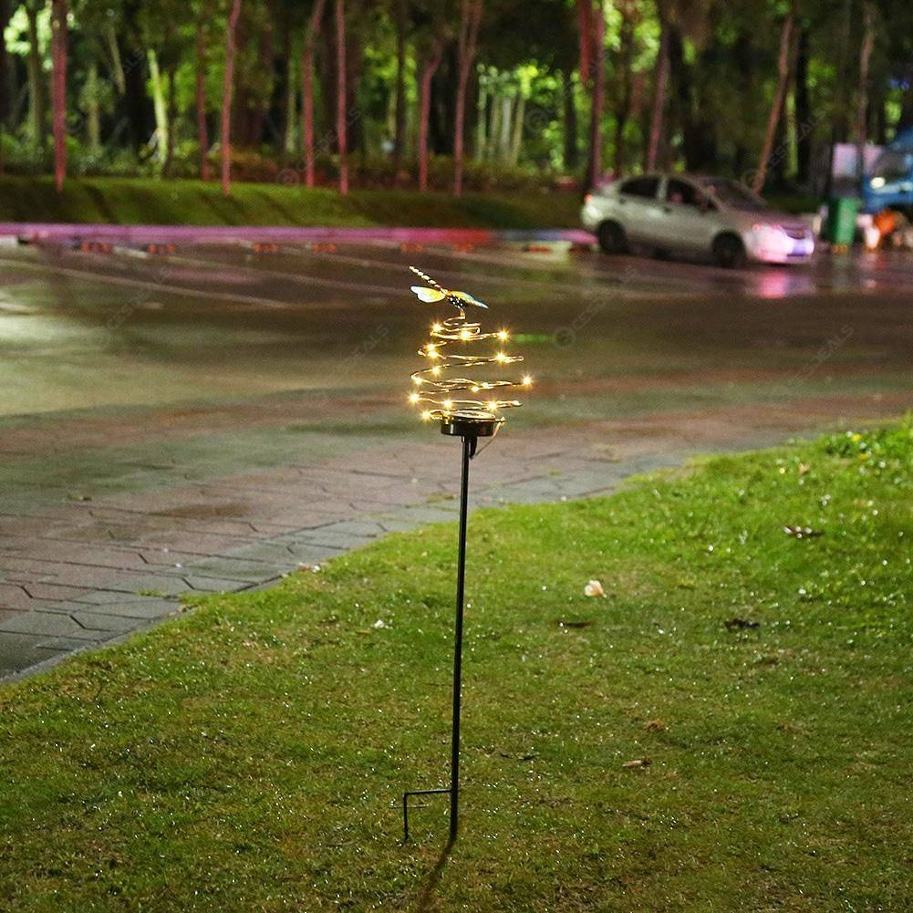 20 LED Solar Dragonfly Lawn Light Garden Courtyard Landscape Decorative Lamp