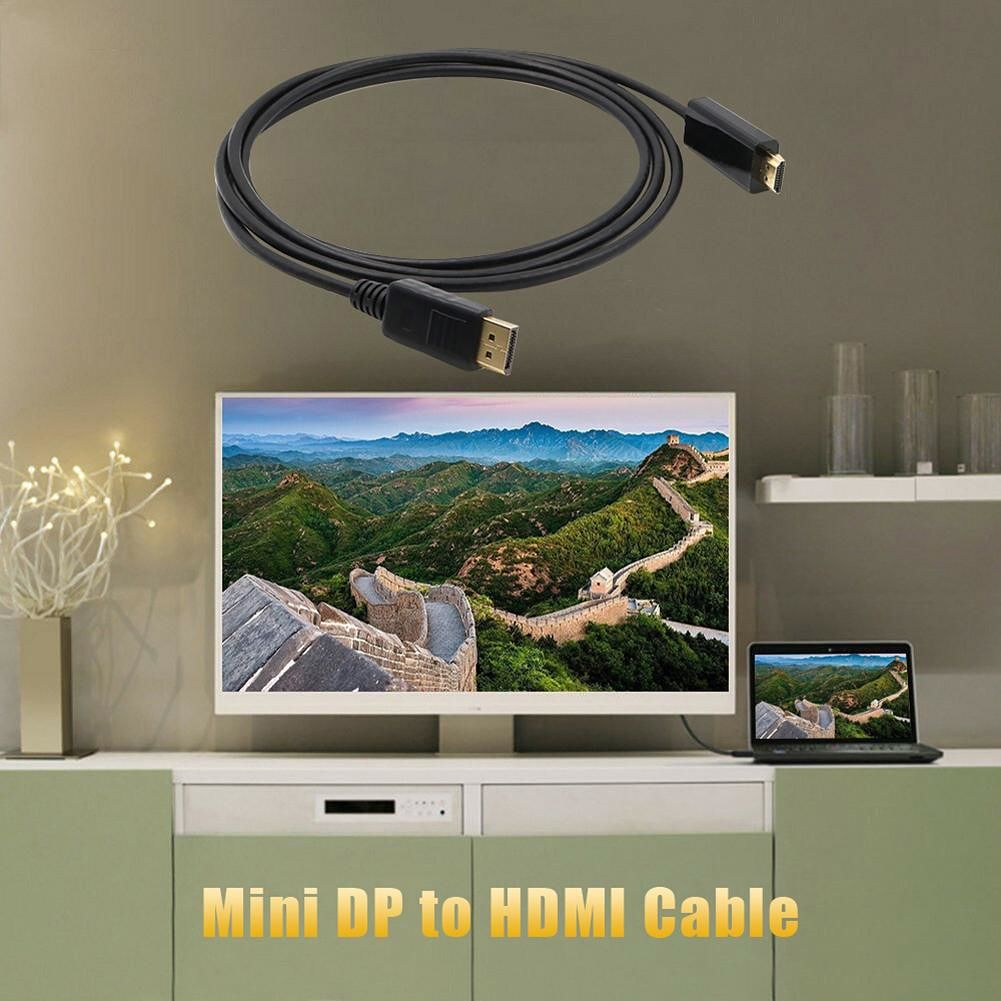 Mini DisplayPort to 4K 1080P Cable Adapter for Projector Converter Monitor