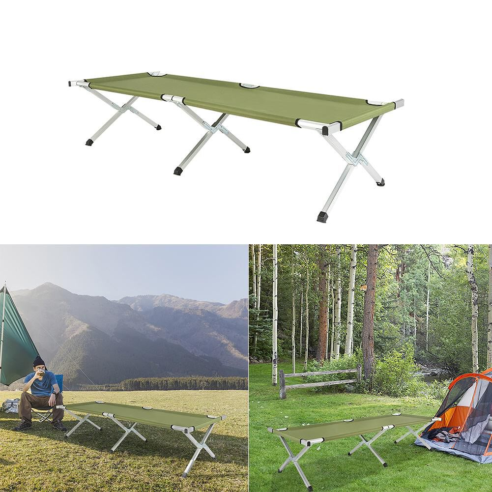 Portable Folding Camping Cot with Carrying Bags Outdoor Travel Hiking Bed
