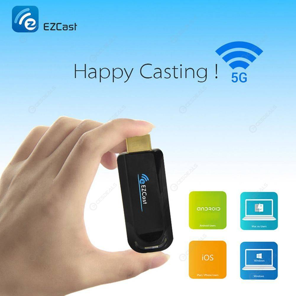 5G HDMI Miracast Wi-Fi Display TV Stick Anycast Receiver Dongle for Android