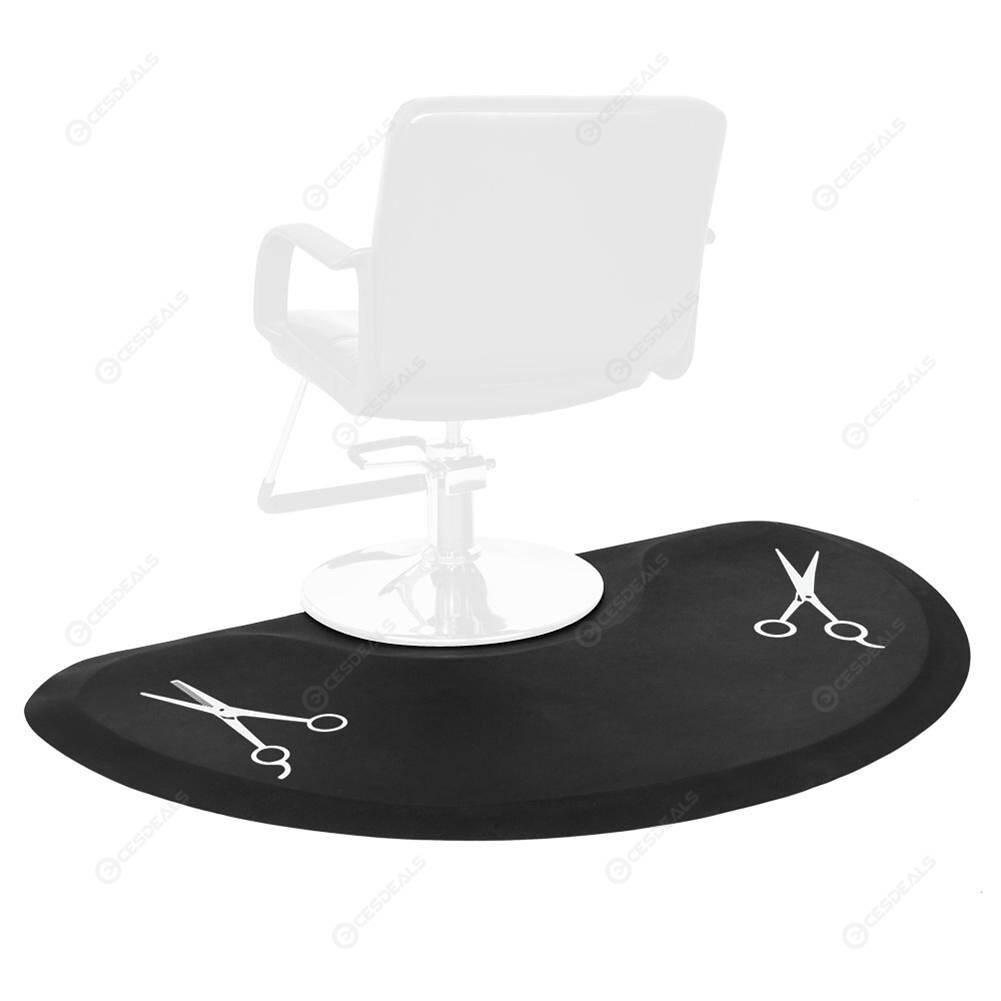 2pcs Beauty Salon Semicircle Anti-fatigue Mat Black Scissors Pattern Mat