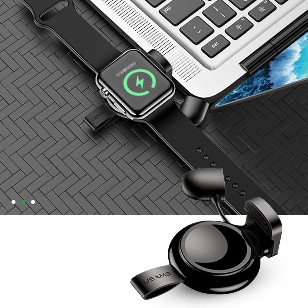 USAMS US-CC061 Magnetic Wireless Charger for Apple Watch 1/2/3/4 (Black)