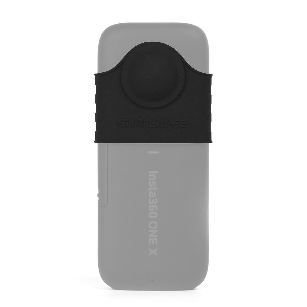 Sunnylife Silicone Cover Camera Lens Protector for Insta360 One X (Black)