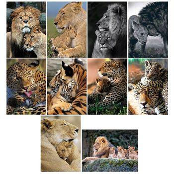 5D DIY Full Drill Diamond Painting Animal Tiger Cross Stitch Kits (K510)
