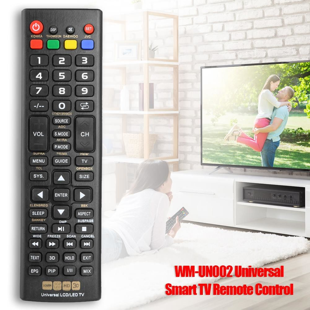 WM-UN002 Universal Smart TV Remote Control w/LEARN LCD LED HD 3D Function