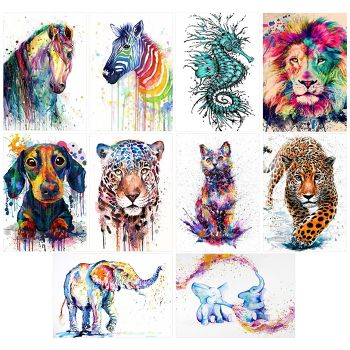 5D DIY Full Drill Diamond Painting Horse Cross Stitch Kits (Color-k550)