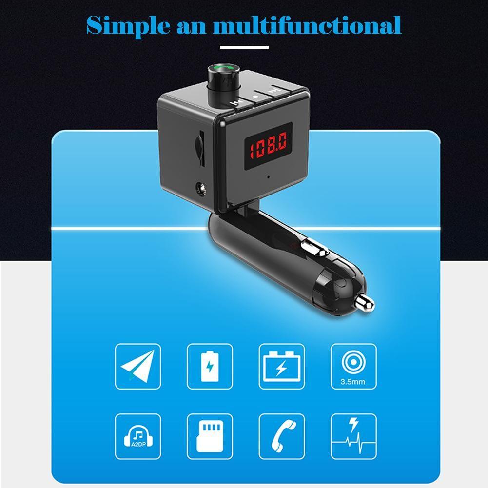 B6S Bluetooth FM Transmitter Handsfree Car Kit MP3 Player Dual USB Charger