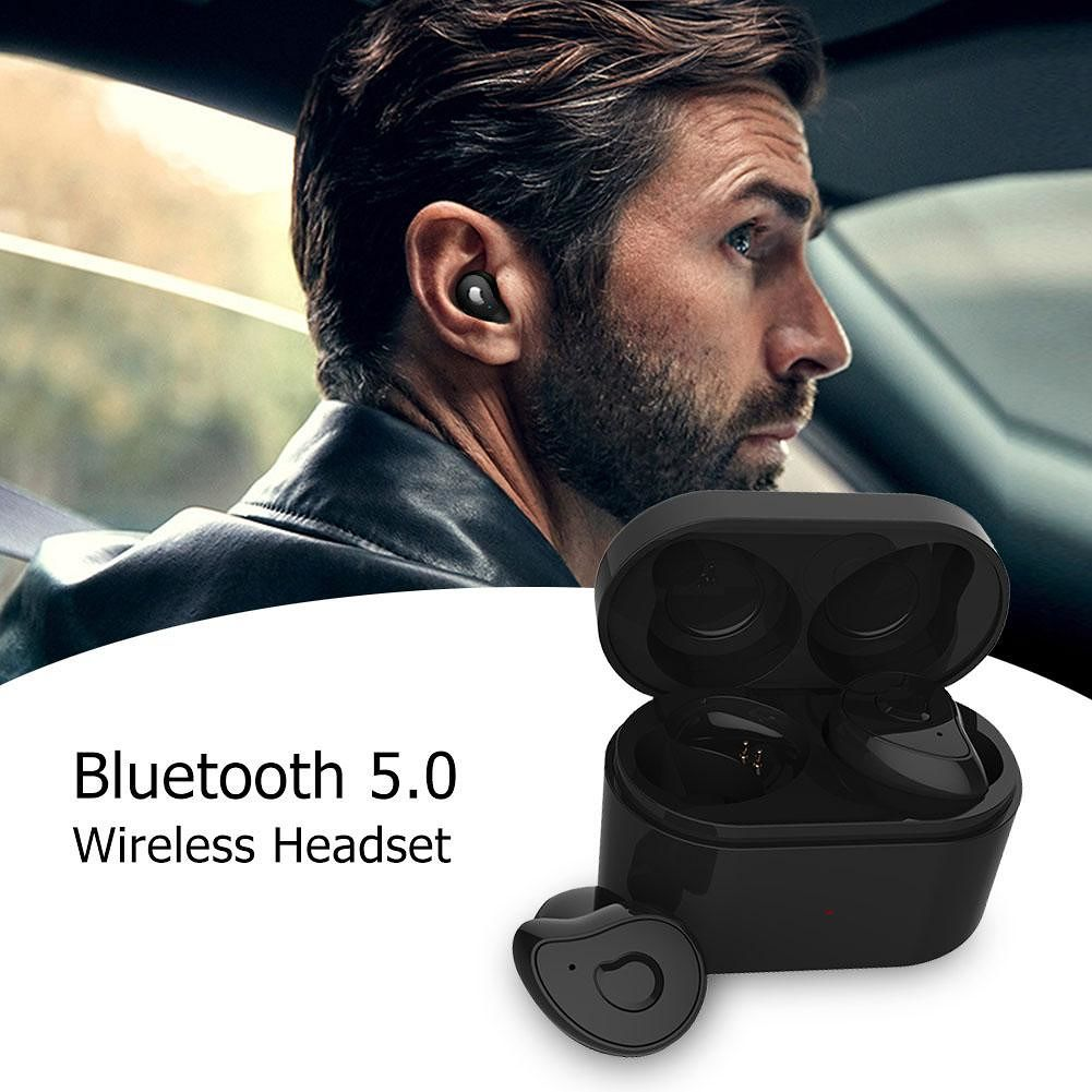 SE-6 TWS Bluetooth Headset In Ear Wireless Stereo with Charging Box (Black)
