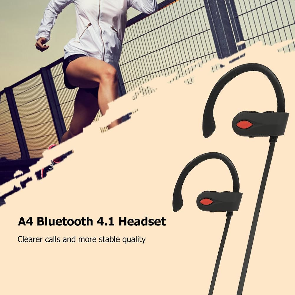 A4 Bluetooth Headphones IPX7 Waterproof Wireless Earbuds for Sports Running