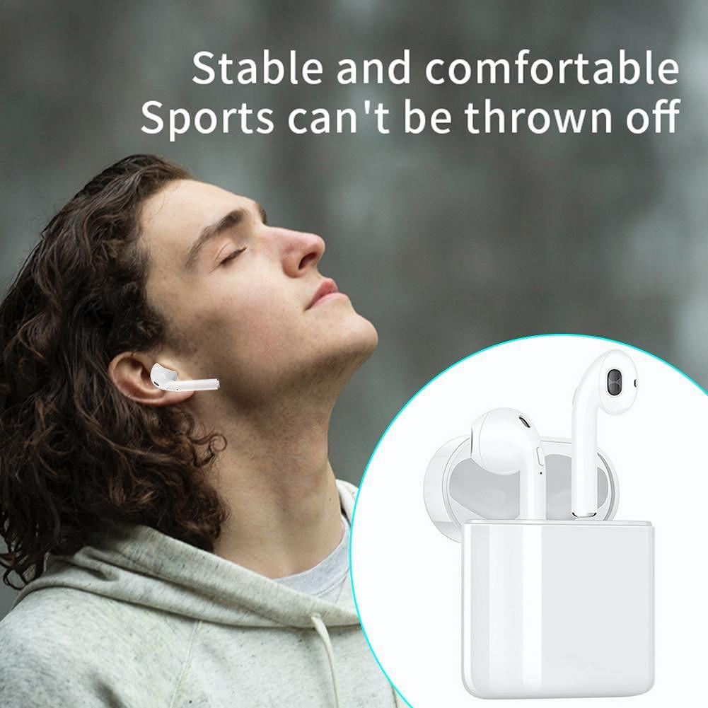 i20 TWS Bluetooth 5.0 Earphone Wireless Binaural Call Stereo Earbud (White)