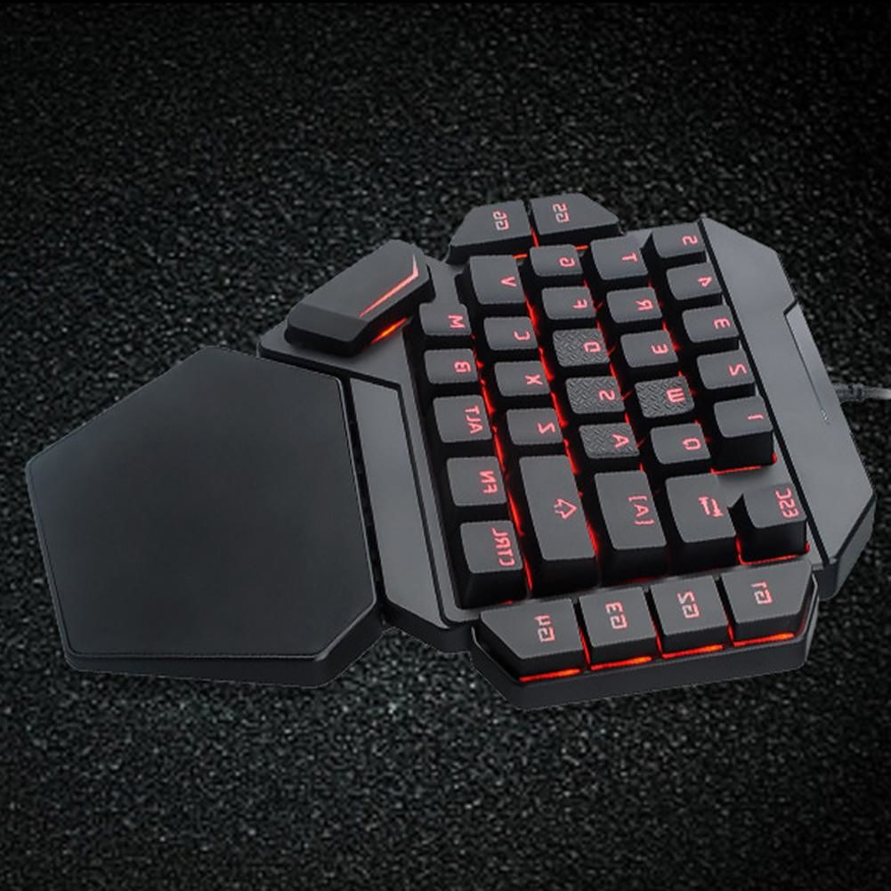 K50 Wired USB One-Handed Keyboard Macro Definition Mechanical Gaming Keypad