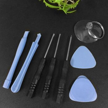8 in 1 Cell Phones Opening Pry Repair Tool Suction Cup Screwdrivers Kits