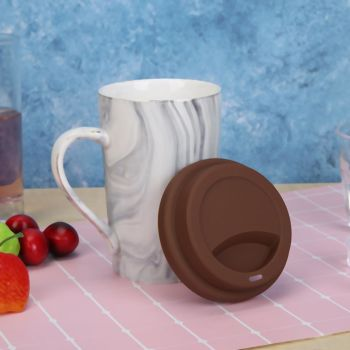 Wheel Shape Silicone Cup Lids Heat-resistant Dust-proof Bowl Cover (Coffee)