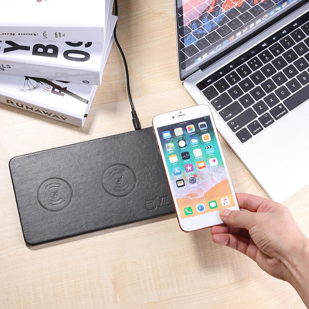 Qi Triple Wireless Charger Multi Phone Desktop Quick Charging Station Pad