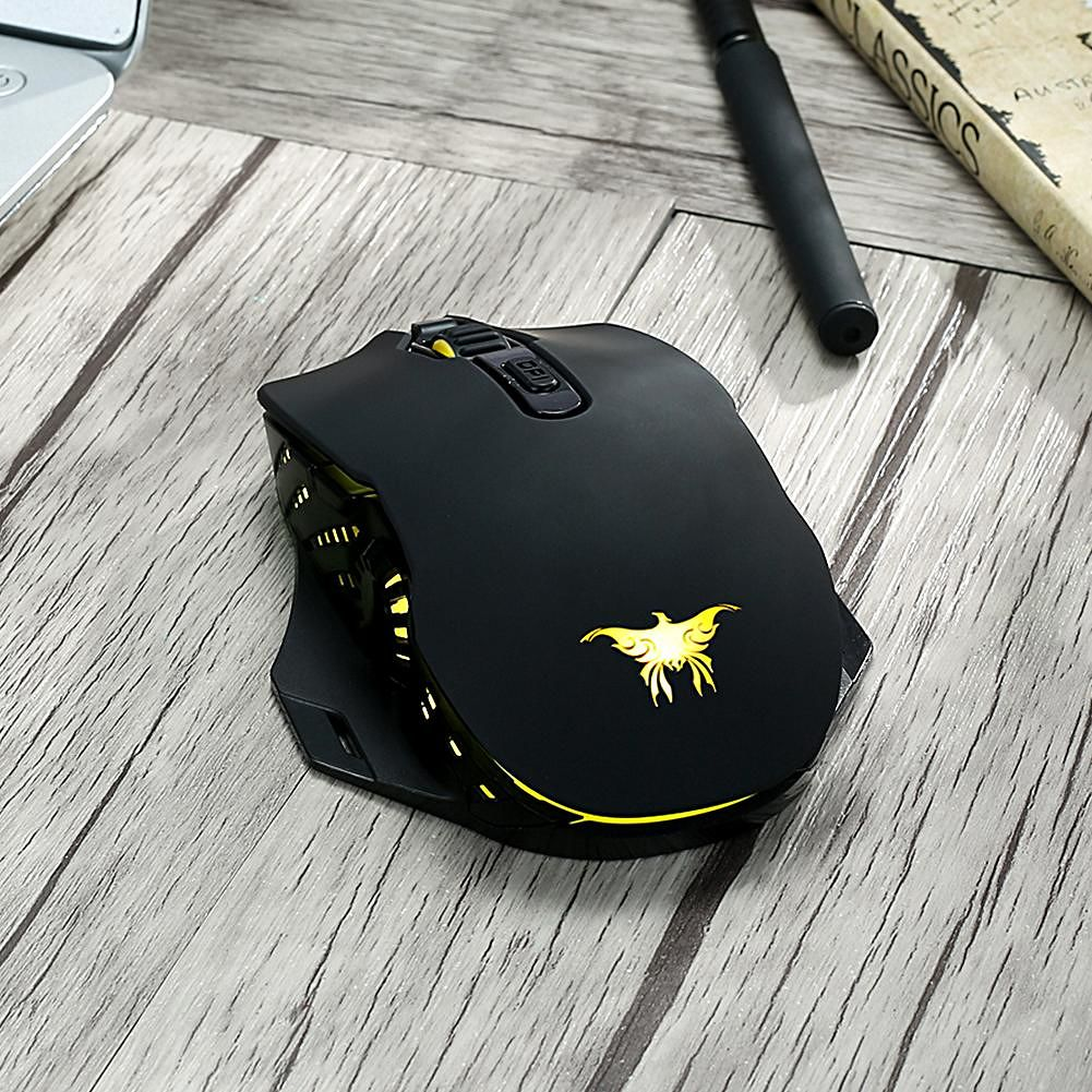 W200 Wireless Wired Gaming Mouse 6000 DPI Adjustable Ergonomic Optics Mice