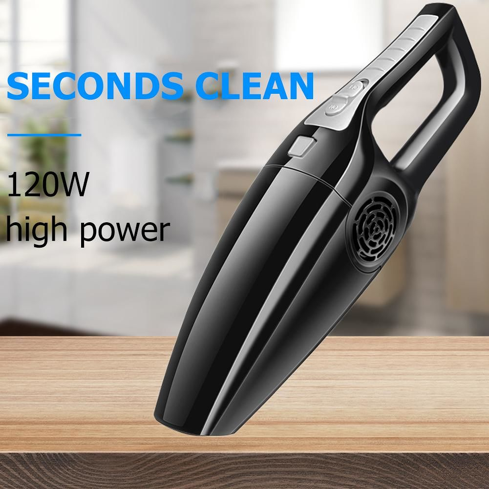 120W Car Vacuum Cleaner Wet Dry Dual Use Handheld Vacuum Cleaner (Black)