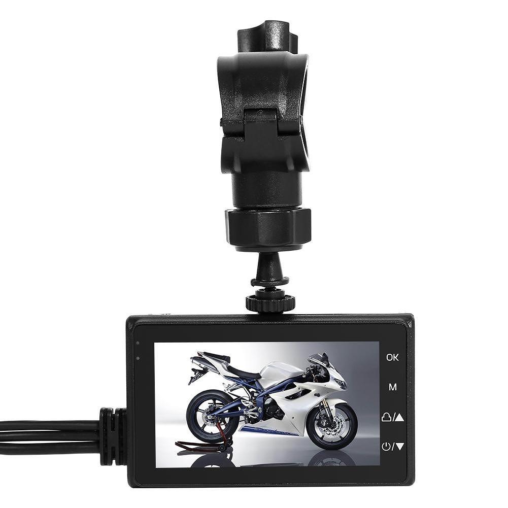 SE600 Motorcycle DVR Front+Rear View Waterproof Dash Cam G-sensor Recorder