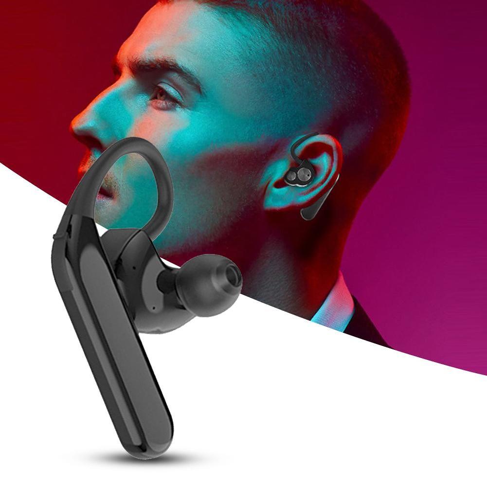 X6 Single Bluetooth 5.0 Dual Moving Coil IPX7 Waterproof Earhook (Black)