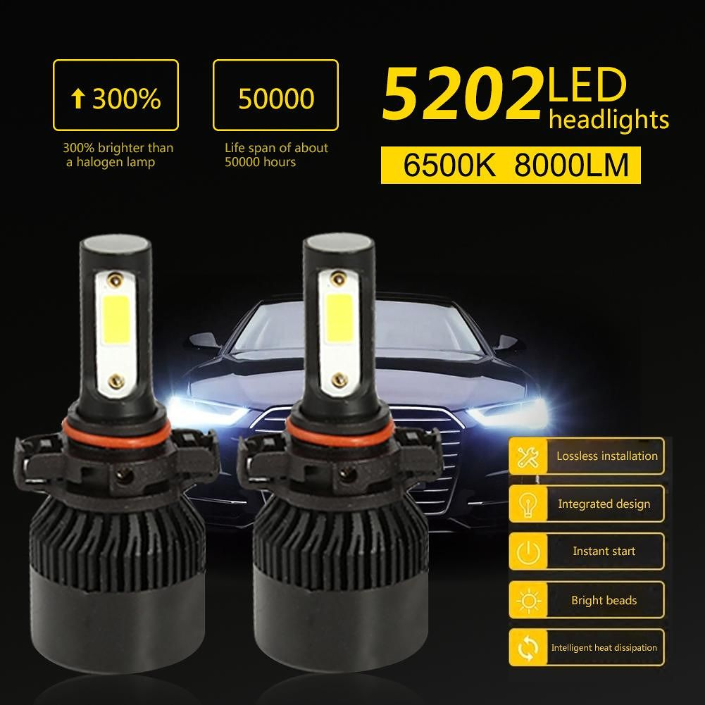 Auto Car LED Headlight Truck Bulb S2 Silver Headlamp Aluminium Alloy (5202)