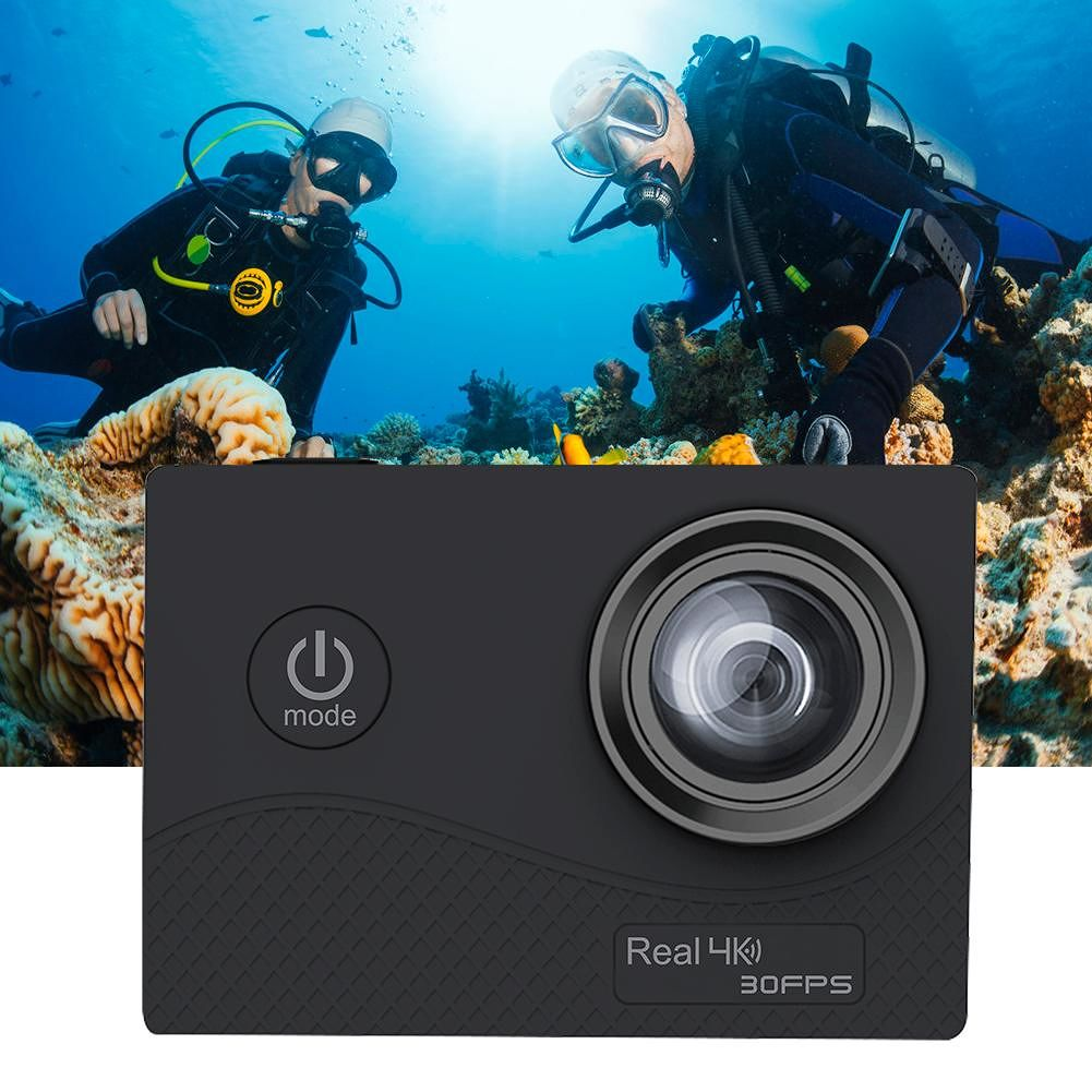 Q6H 4K Action Camera 2 inch TFFT Touch Screen WIFI Waterproof DVR (Black)