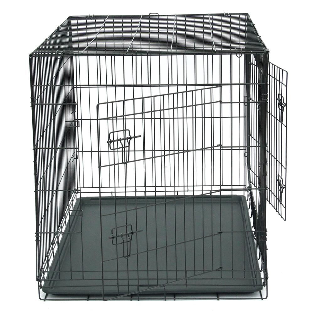 48 inch Pet Kennel Cat Dog Folding Steel Crate Metal Wire Animals Playpen