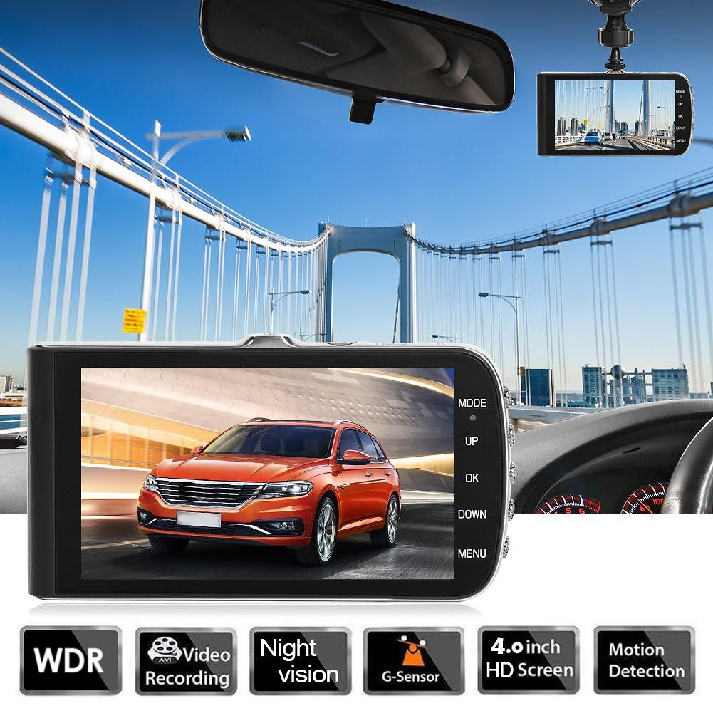 SE002 HD Car DVR Camera 4 inch Screen WDR Night Vision Dash Cam Recorder