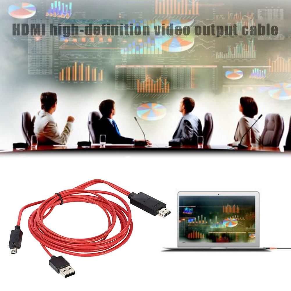 1080P 11Pin Micro USB to HDMI Adapter Cable for MHL Output Audio Converter