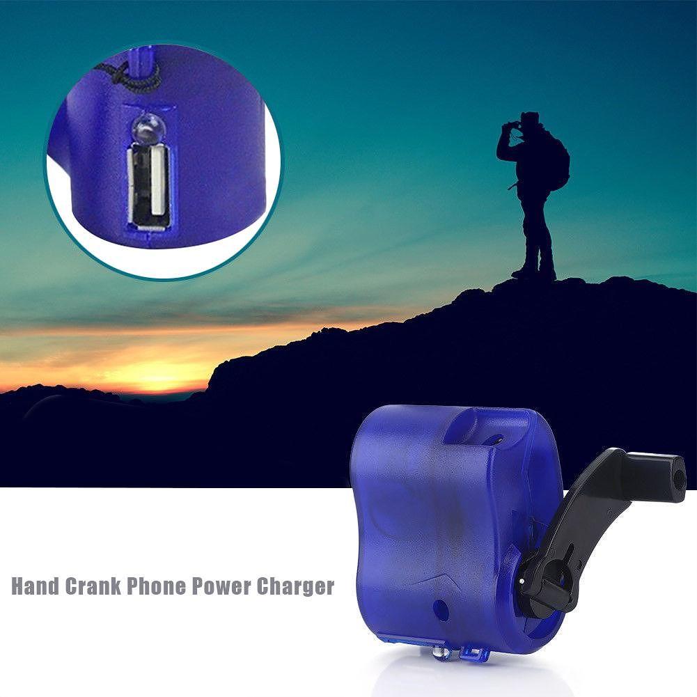Mini Hand Crank Power Manual Generator Travel Emergency USB Phone Charger