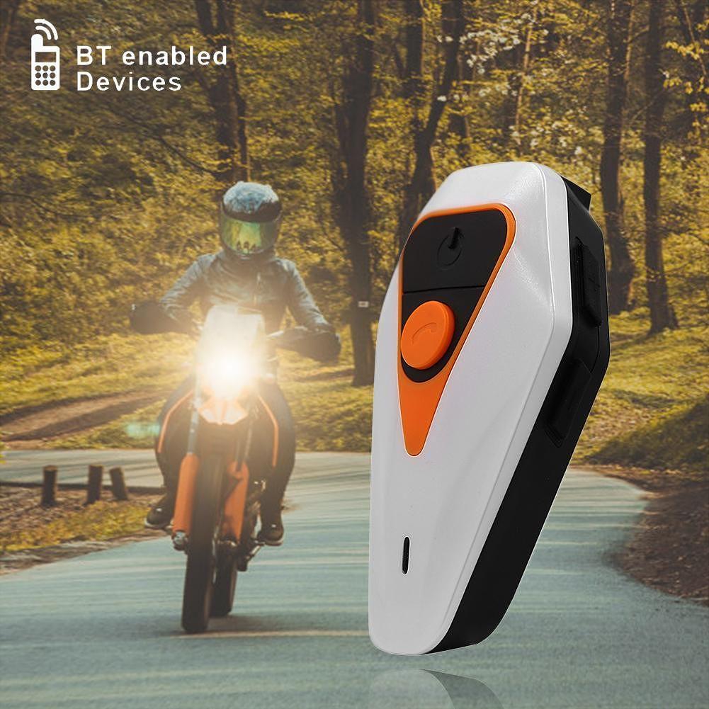 WT002 Bluetooth Motorcycle Helmet Headset 1000m BT Interphone Intercom