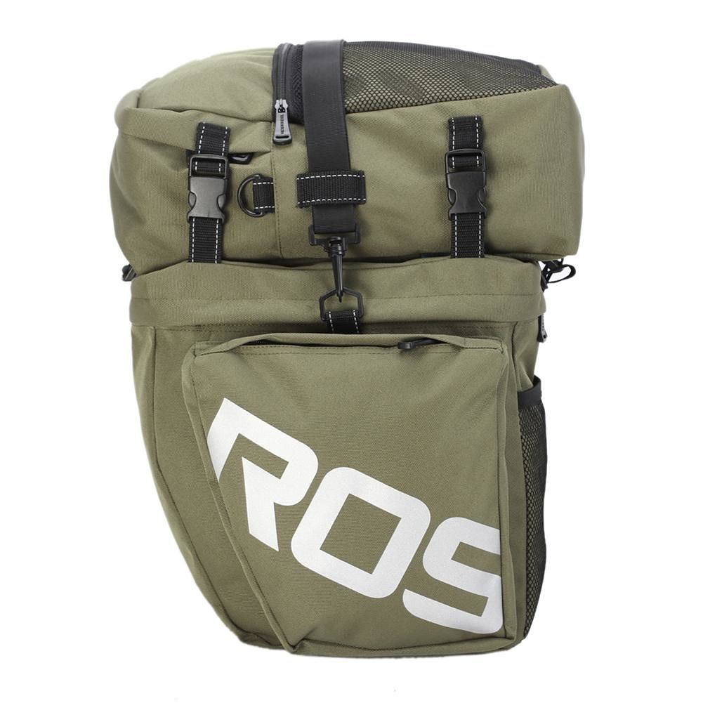 Roswheel Bicycle Rack Bag Waterproof 3 in 1 Cycling Pack Pannier (Green)