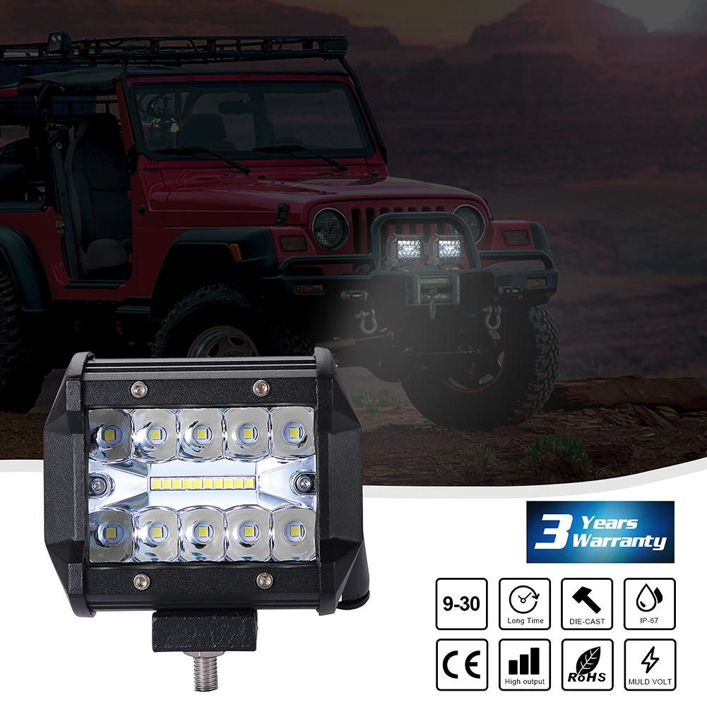 1pc 200W  4inch Off-road Vehicle LED Working Lamp Fog Lamp Driving Lamp