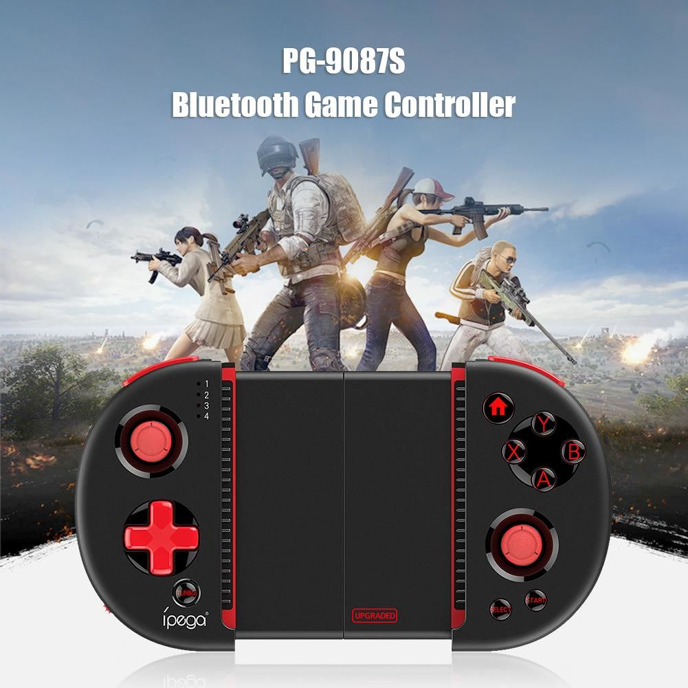 PG-9087S Phone Gamepad Game Controller Bluetooth Extendable Joystick for PC