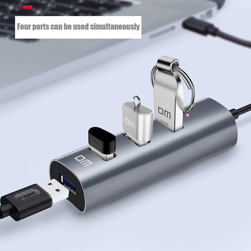 DM CHB009 4 USB3.0 HUB Adapter USB Splitter for Windows XP/7/8/10 (30cm)