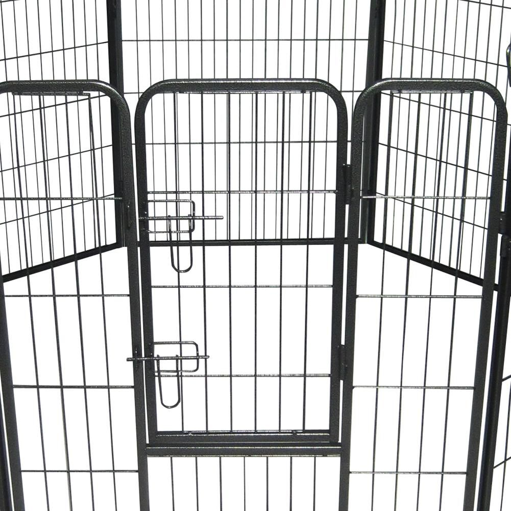 40 inch Pet Dog Playpen Heavy Duty Metal Exercise Playing Fence w/8 Panels