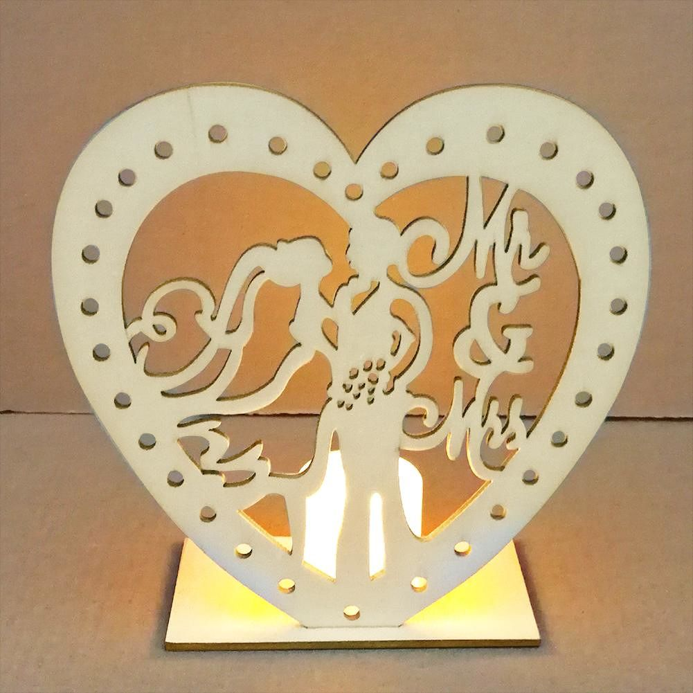Wooden Wedding Decoration LED Candle Light for Marriage Supplies (JM01456)
