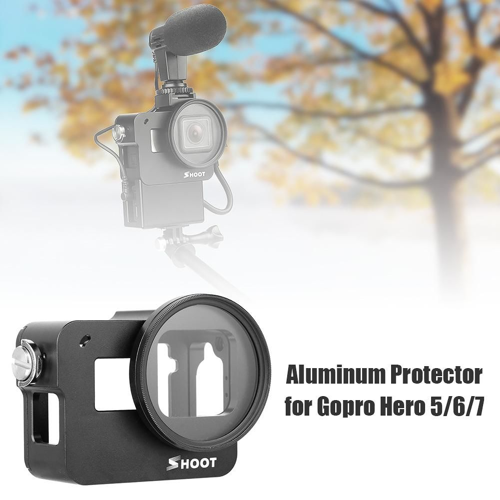 Aluminum Protector Rugged Cage Protective Housing Case for Gopro Hero 5 6 7